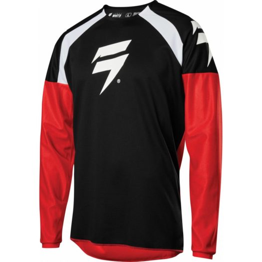 Camiseta técnica Fox Racing SHIFT WHIT3 LABEL RACE Black Red
