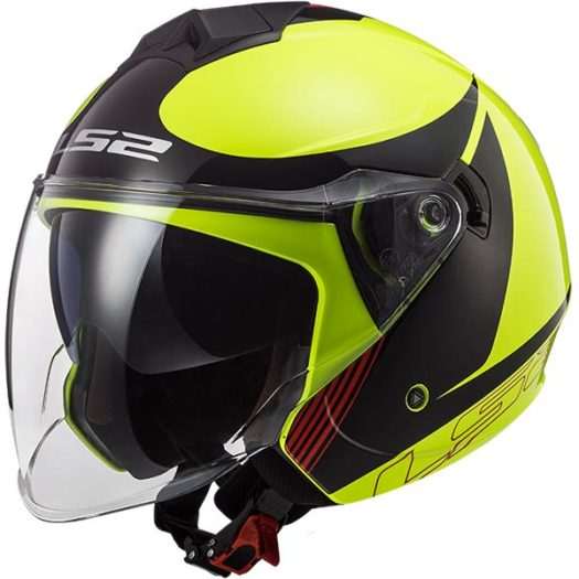 Casco LS2 OF573 Twister II Plane H-V Yellow Black Red