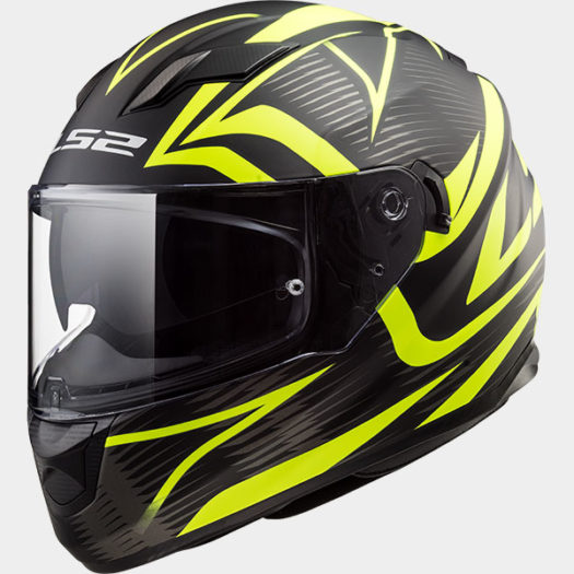Casco LS2 FF320 Stream Evo Jink Matt Black H-V Yellow