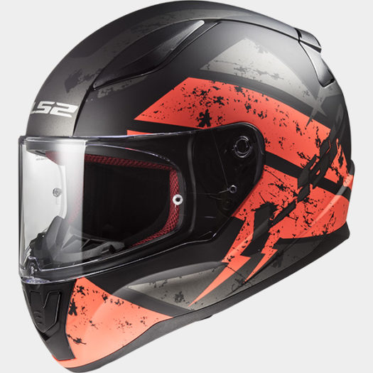 Casco LS2 FF353 Rapid Deadbold Matt Black Orange