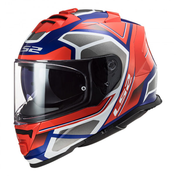 Casco LS2 FF800 Storm Faster Red Blue